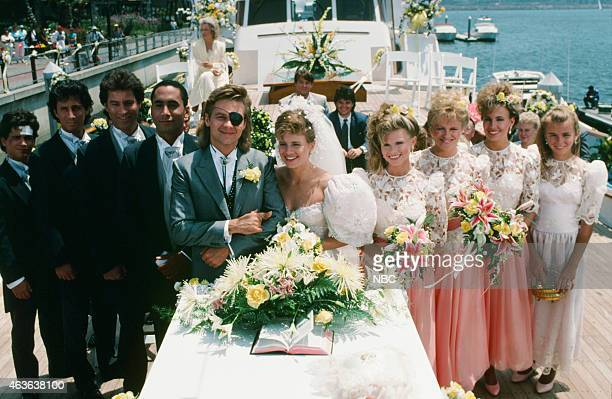 LIVES 'Patch Johnson Kayla Brady 1st Wedding' Pictured Billy Warlock as Frankie Brady Charles Shaughnessy as Shane Donovan Drake Hogestyn as John...