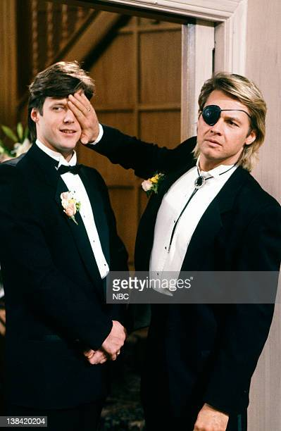 LIVES 'Patch Johnson Kayla Brady Johnson 2nd Wedding 1st Attempt' Pictured Matthew Ashford as Jack Deveraux Stephen Nichols as Steve 'Patch' Johnson