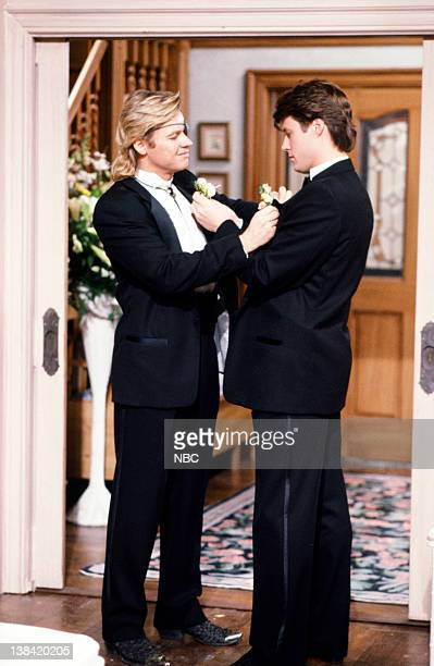 LIVES 'Patch Johnson Kayla Brady Johnson 2nd Wedding 1st Attempt' Pictured Stephen Nichols as Steve 'Patch' Johnson Matthew Ashford as Jack Deveraux