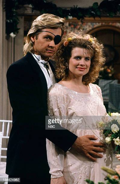 LIVES 'Patch Johnson Kayla Brady Johnson 2nd Wedding 1st Attempt' Pictured Stephen Nichols as Steve 'Patch' Johnson Mary Beth Evans as Dr Kayla Brady