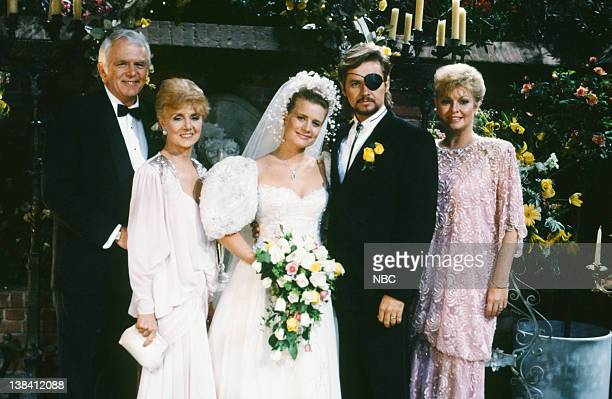LIVES 'Patch Johnson Kayla Brady Johnson 2nd Wedding' Pictured Frank Parker as Shawn Brady Peggy McCay as Caroline Brady Mary Beth Evans as Dr Kayla...