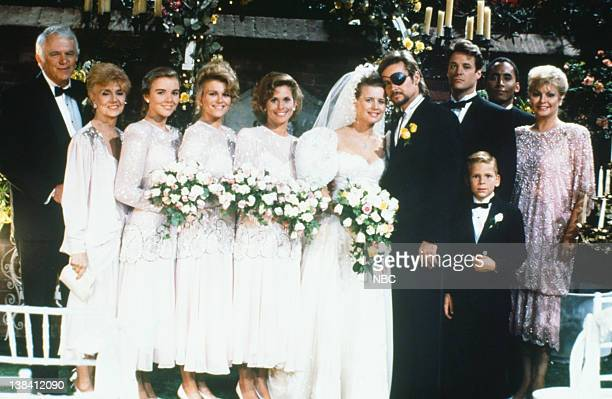 LIVES 'Patch Johnson Kayla Brady Johnson 2nd Wedding' Pictured Frank Parker as Shawn Brady Peggy McCay as Caroline Brady Christie Clark as Carrie...
