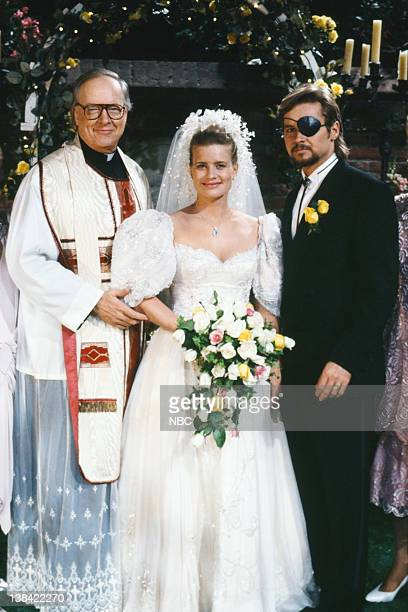 LIVES 'Patch Johnson Kayla Brady Johnson 2nd Wedding' Pictured Unknown as priest Mary Beth Evans as Dr Kayla Brady Johnson