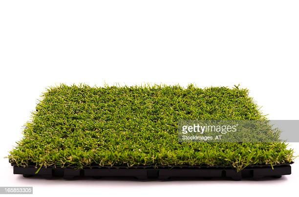 patch of artificial turf - turf stock pictures, royalty-free photos & images