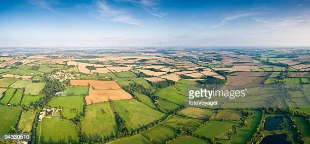 patchwork landscape vista - oxfordshire stock pictures, royalty-free photos & images