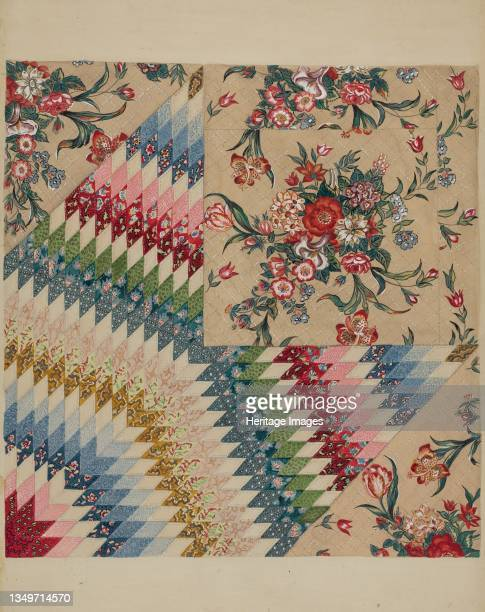 Patchwork Quilt, circa 1936. Artist Irene Schaefer.