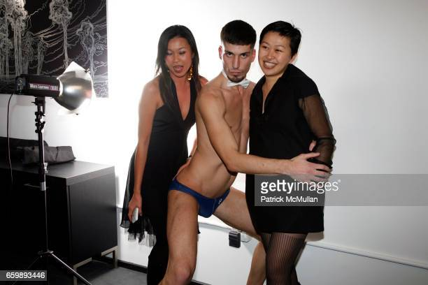 Patci Song Go Go Dancer and Niki Cheng attend 7th Annual BoCONCEPT/KOLDESIGN Holiday Party at Bo Concept Madison Ave on December 15 2009 in New York