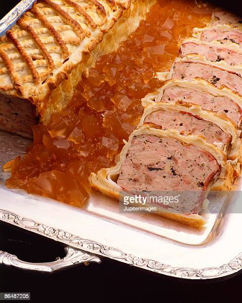 pate en croute - pate stock photos and pictures