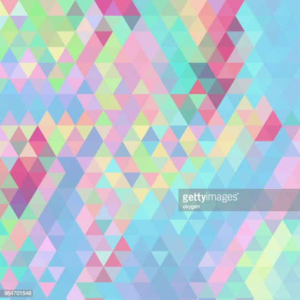 patel colored triangular abstract background - geometric design stock photos and pictures
