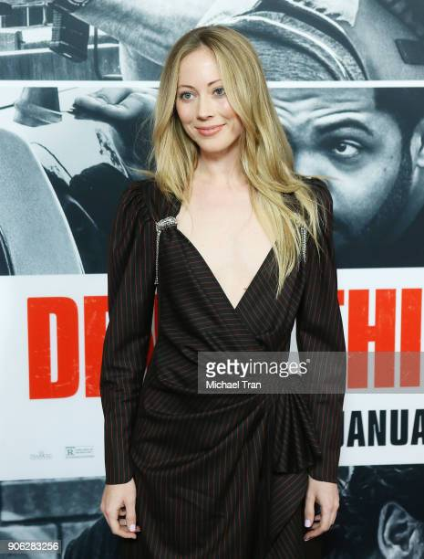 Paten Hughes arrives to Los Angeles premiere of STX Films' 'Den Of Thieves' held at Regal LA Live Stadium 14 on January 17 2018 in Los Angeles...