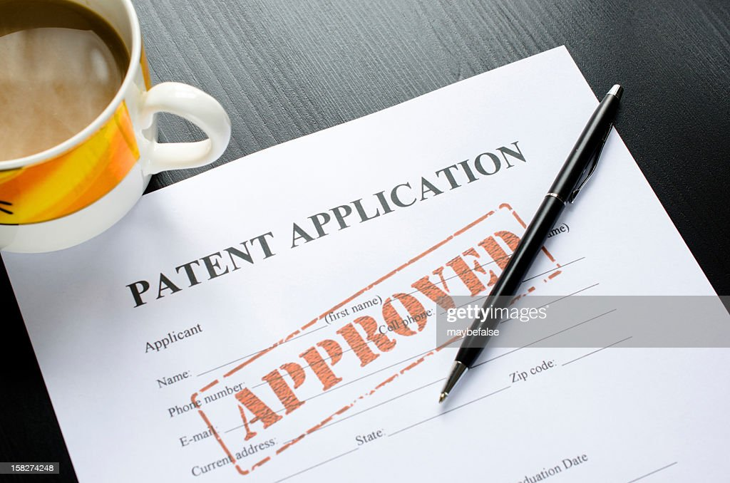 patent application - approved : Stock Photo