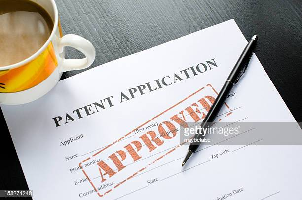 patent application - approved - intellectual property stock pictures, royalty-free photos & images