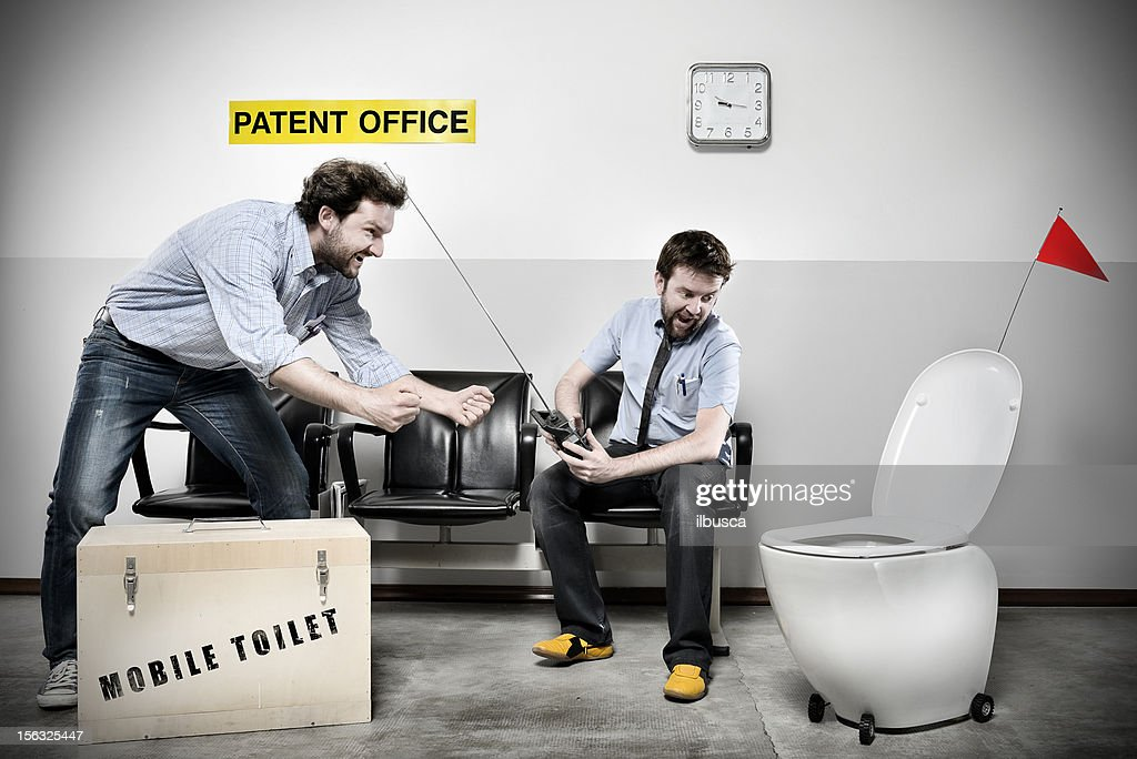 Patent Office Series: Mobile Toilet : Stock Photo