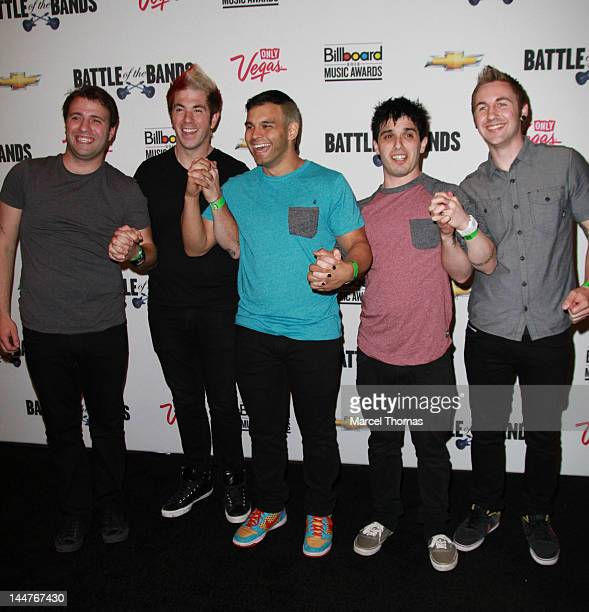 Patent Pending Rob Feliciti Anthony Mingoia Joe Ragosta Travis McGee and Marc Kantor arrive for Battle of the Bands at The Joint at the Hard Rock...
