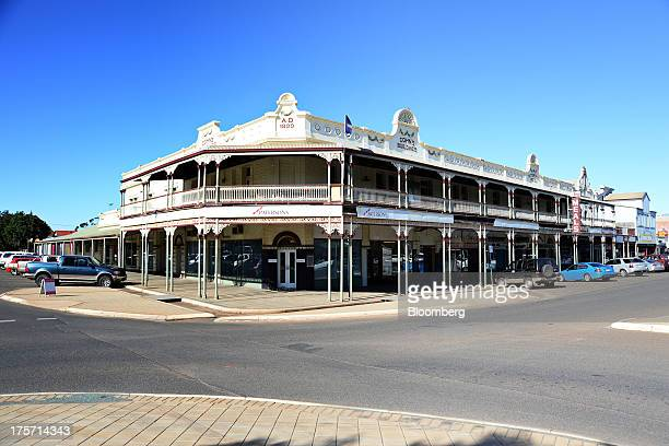 A Patersons Securities Ltd store stands at an intersection on Hannan Street in Kalgoorlie Australia on Wednesday Aug 7 2013 Kalgoorlie a town in the...