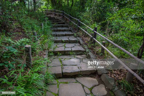 Path at Philosophy Park which at first appears to be a rather large and pleasant expanse of greenery and hills north of Nakano. Local inhabitants use...
