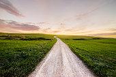 Path at sunset
