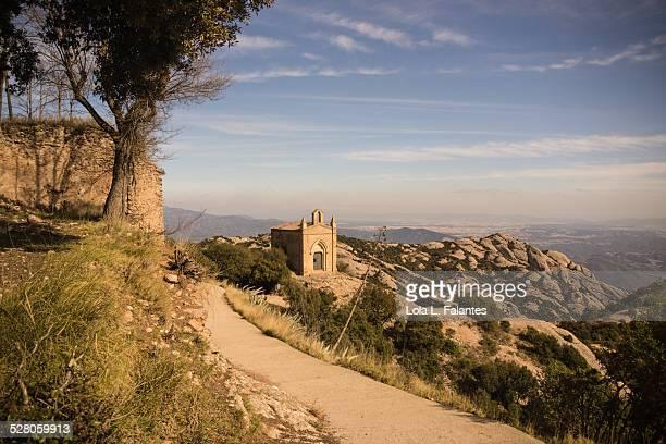 Path for trekking in Montserrat