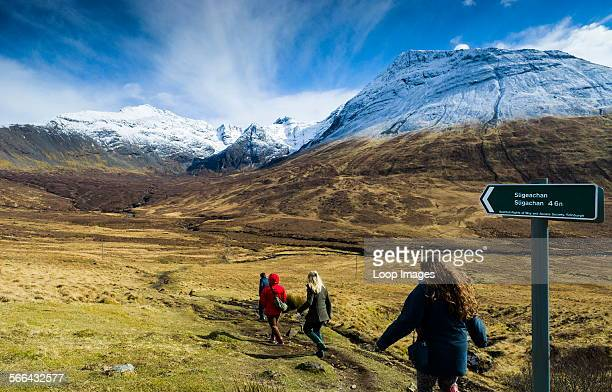 Path from Glen Brittle to Sligachan across the Cuillins