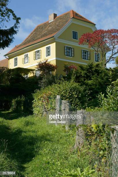 A path leads up to the childhood home of newly elected California Governor Arnold Schwarzenegger October 10 2003 in the village of Thal Austria...
