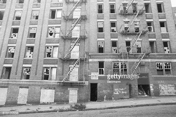 A path of rubble leads to abandoned buildings in this recent view of one area of New York's South Bronx President Jimmy Carter recently visited the...