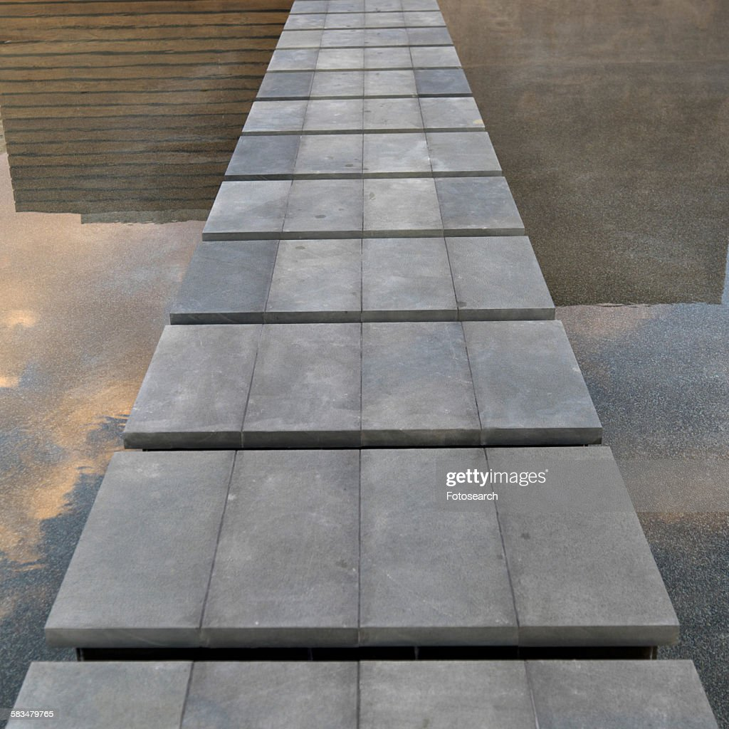 Path over a pool : Stock Photo