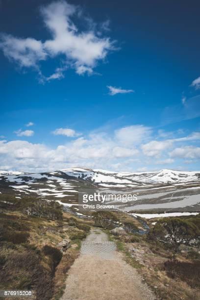 Path through valley in the Australian Alps