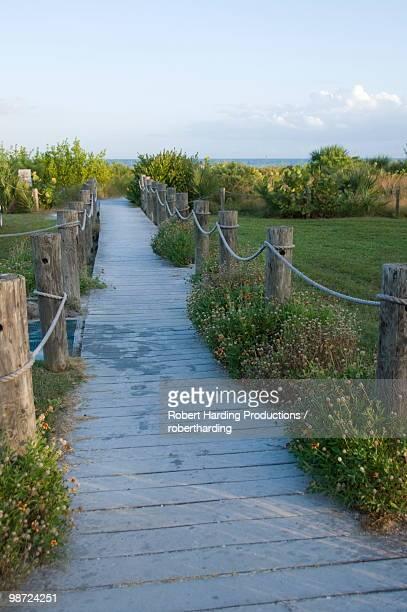 Path to beach, Sanibel Island, Gulf Coast, Florida, United States of America, North America