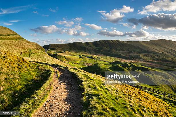 path to rushup edge, derbyshire - bumpy stock photos and pictures