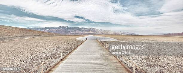 Path to salt flats in Death Valley
