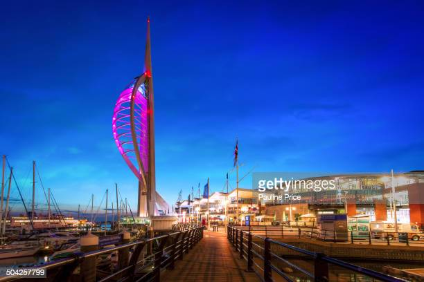 Path to Spinnaker Tower, Portsmouth, Hampshire, England