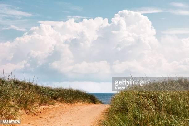 Pfad zu den Strand