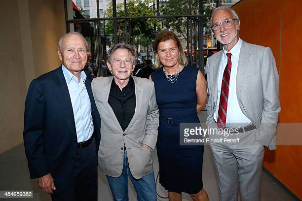 Pathe Jerome Seydoux his wife CEO of the 'Jerome Seydoux Pathe Foundation' Sophie Seydoux director Roman Polanski and Architect of the Foundation...