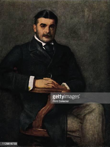 'Pathfinders - 'Sir Arthur Sullivan' . Portrait of British composer Sir Arthur Seymour Sullivan . Musicologist Sullivan is famous for his...