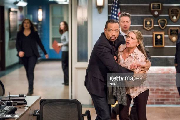 UNIT 'Pathological' Episode 1909 Pictured Ice T as Odafin 'Fin' Tutuola Peter Scanavino as Dominick 'Sonny' Carisi Dendrie Taylor as Dawn McLaughlin