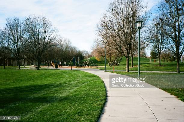 Paths and play structures on a sunny day in Emerald Park Dublin California February 2018 According to 2014 data Dublin is among the top three fastest...