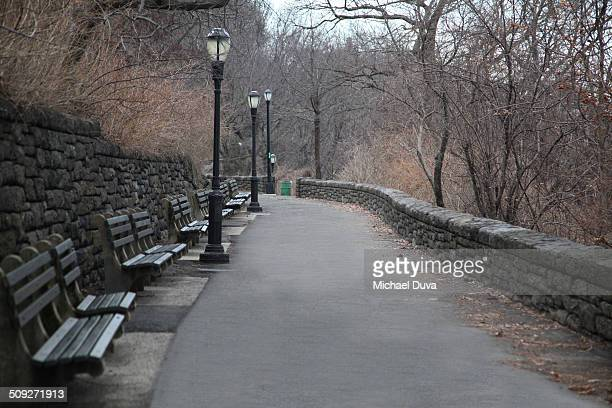pathway around the cloisters in winter - cloister stock pictures, royalty-free photos & images