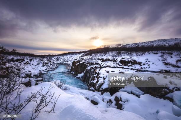 Pathway to Brúarárfoss. Iceland. North Atlantic Ocean.