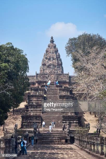 Pathway to the main sanctuary at Phanom Rung a Hindu temple complex built on the rim of an extinct volcano that was constructed during the Khmer...