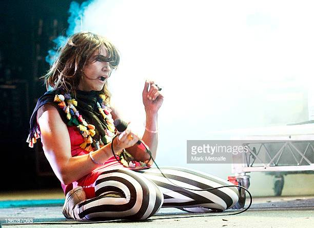 Patience Hodgson of The Grates performs on stage on day three of the Falls Music Festival on December 31 2011 in Lorne Australia
