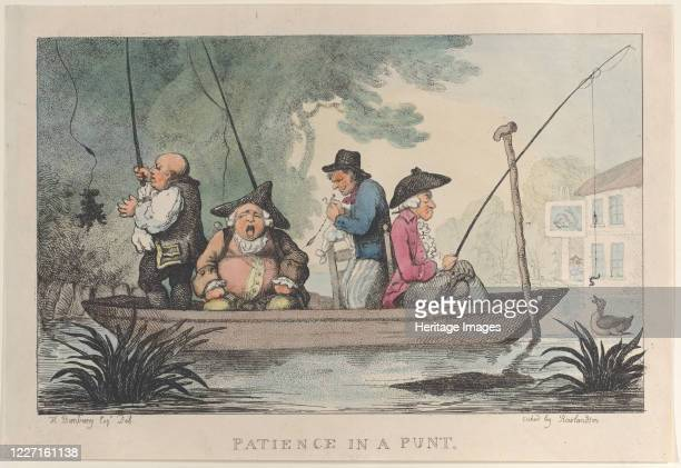 Patience in a Punt 1811 Artist Thomas Rowlandson