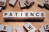 Patience Word In Wooden Cube