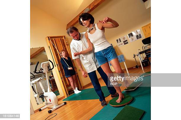 Patient And Health Professional Physical Therapist Kinesitherapy Room