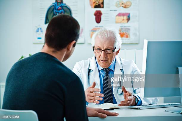 Patient and senior doctor