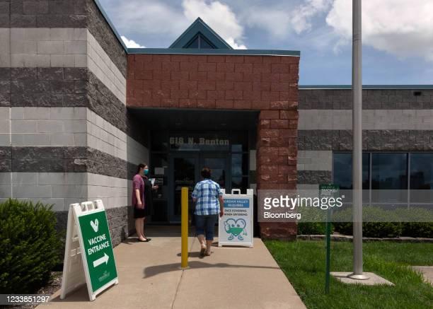Patient arrives at the Jordan Valley Community Health Center in Springfield, Missouri, U.S., on Monday, June 28, 2021. President Biden set a goal for...