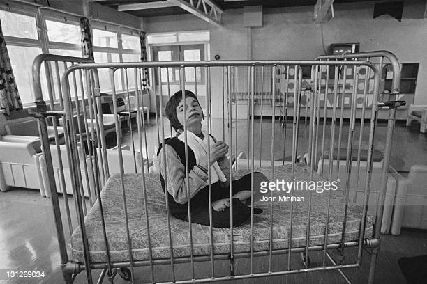A patient at Normansfield Hospital Teddington Middlesex 12th February 1979 The hospital was founded by British doctor John Langdon Down in 1868 for...