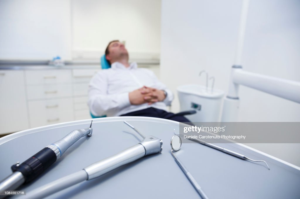 Patient at the dentist : Stock Photo