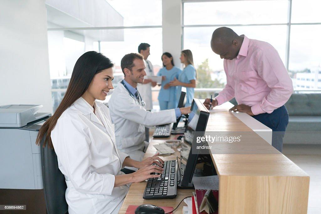 Patient at the hospital : Foto de stock