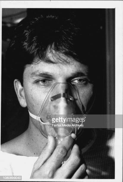 Patient David Poppleton inhales anaestheticDavid Poppleton can still talk because a laser now burns where the scalpel once cutTen years ago in the...