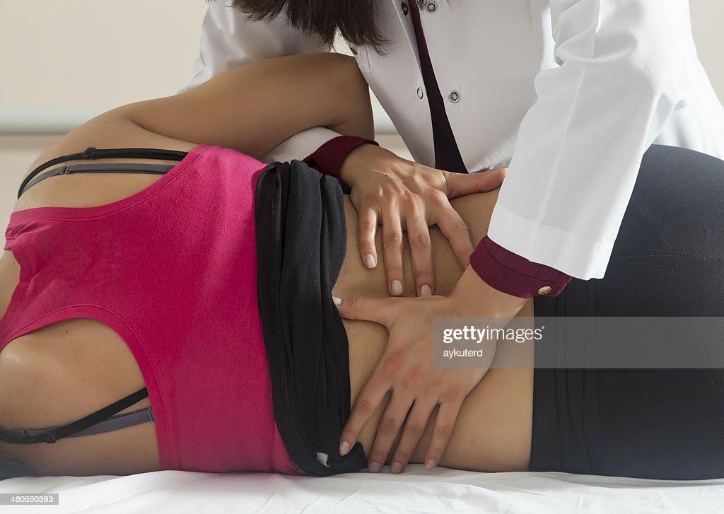 Doentes a fazer alguns exercícios de especiais : Foto de stock
